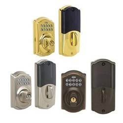 Schlage pushbutton deadbolt door locks be365 007 systems for 007 door locks